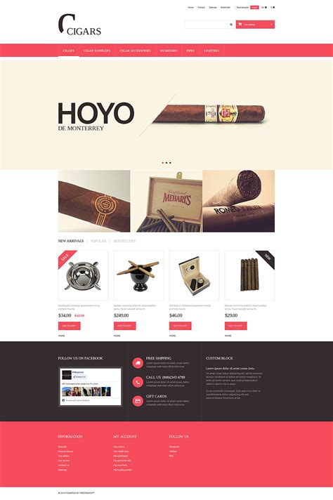 Cigars Prestashop Theme 51373 Cigar Website Templates