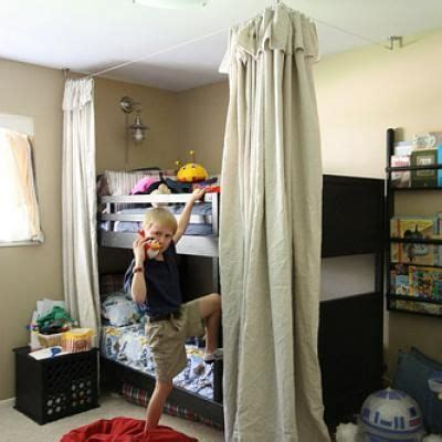 Bunk Bed Fort Curtains Curtains Around Bed To Make Tent Fort Could Just Do The Top Bunk Kellan Room Pinterest