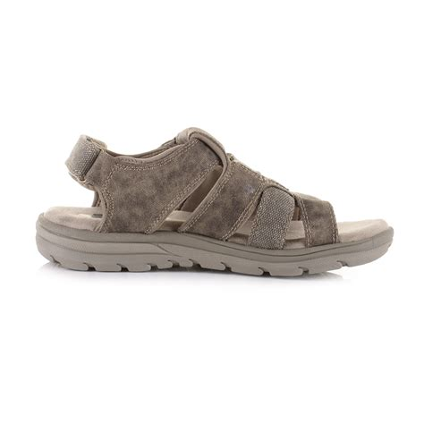 skechers comfort sandals mens skechers supreme equipt taupe relaxed fit comfort