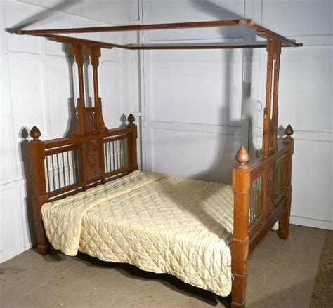 colonial style beds colonial style antique four poster 5ft double bed 455332