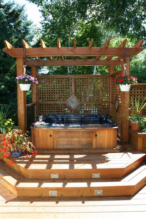 backyard deck designs with hot tub 25 best ideas about hot tub deck on pinterest hot tub