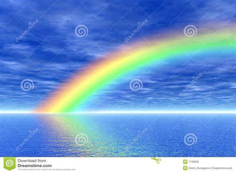 imagenes de arcoiris rainbow in the sea royalty free stock images image 7795059