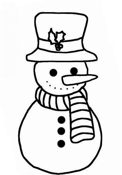 simple snowman coloring page simple snowman coloring pages for kids free winter