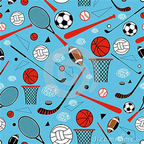 pattern goods pattern of sporting goods stock vector image 53880678