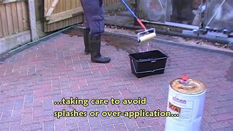 Sealing a block paved driveway   YouTube