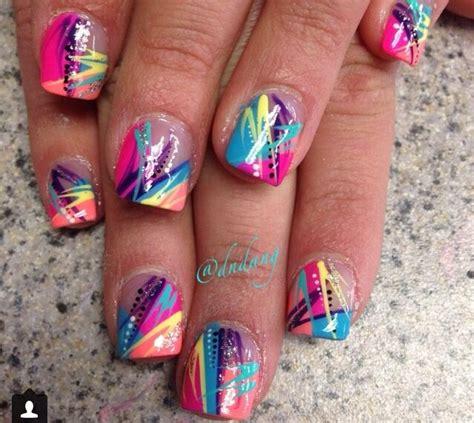 colorful acrylic nails colorful acrylic nails nails acrylics