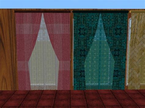 how to match curtains and rugs mod the sims double and single wide curtains with
