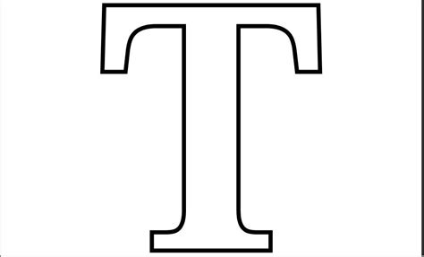 Printable PDF Letter T Coloring Page | Printable Alphabet ... T