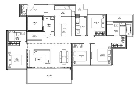 Ola Residences Floor Plan by Seaside Residences Floor Plans Frasers Centrepoint Homes
