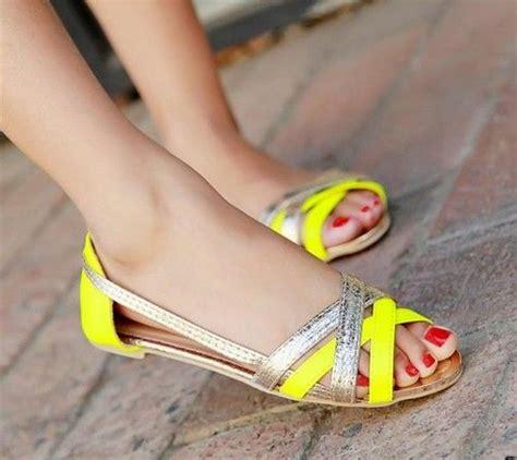 neon yellow flat shoes womens neon yellow flat sandal slip on open