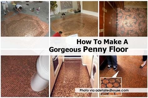 how to build a floor how to make a gorgeous penny floor
