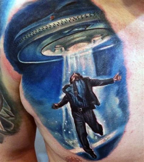 alien abduction tattoo 100 ufo designs for abduction ink