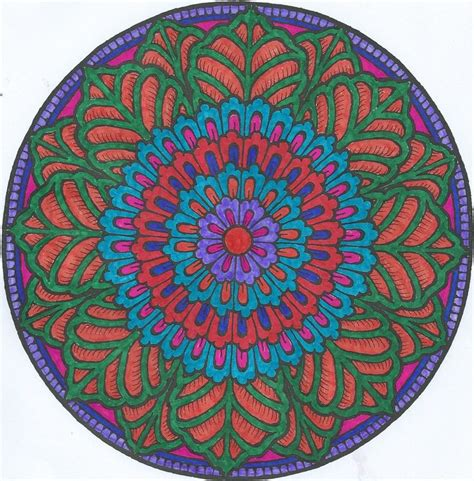 mandala coloring book with markers 17 best images about colored on dovers