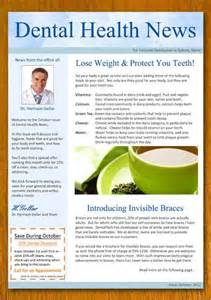 Dental Newsletter Template by Interesting Newsletters Free Dentist And Dental