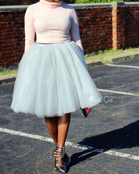 clarisa dove gray tulle skirt midi c est 199 a new york