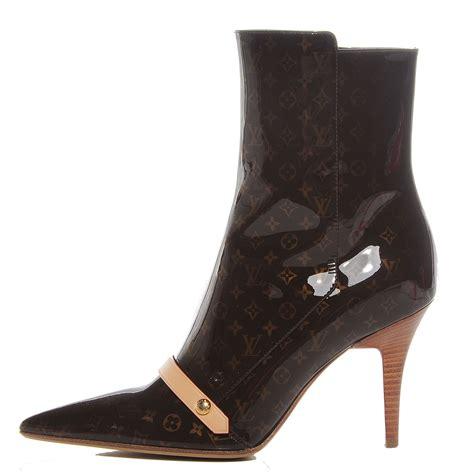 louis vuitton boots for louis vuitton monogram patent ankle boots 37 98240