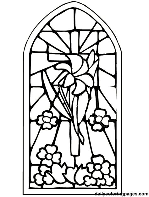 cross stained glass coloring pages clipart best