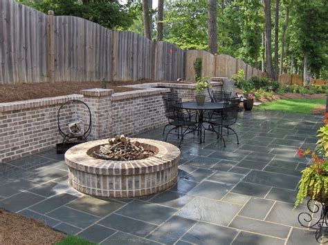 Stone Fire Pit Designs Patio Traditional With Artistic Patio Designs With Pit