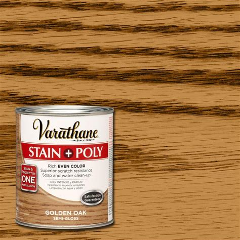 Varathane Wood Finish Interior by Varathane 1 Qt Golden Oak Stain And Polyurethane Of