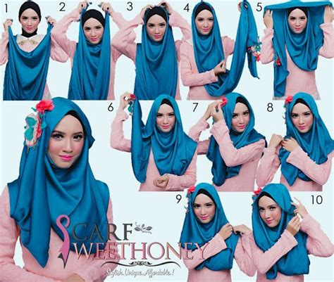 Jilbab Kerudung Pashmina Scarf Indy Denim Blue 51 best images about style tutorial on simple tutorial pashmina