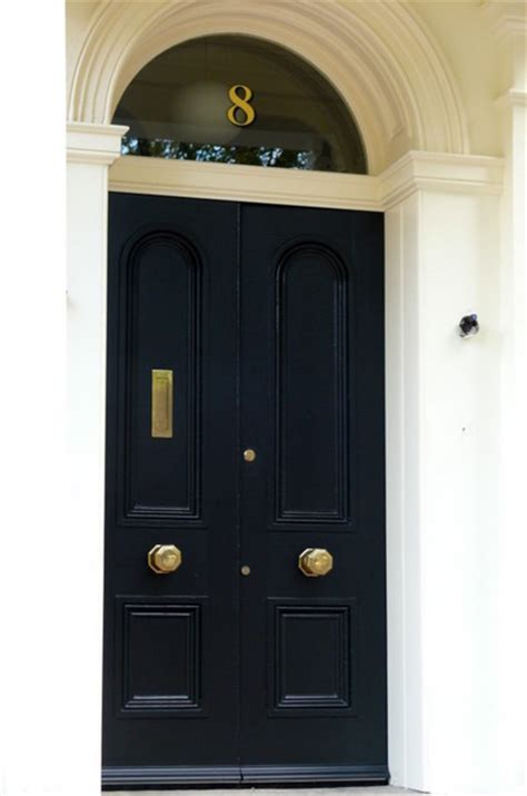 Exterior Door Numbers Gold House Numbers Traditional Front Doors Other Metro By The Fanlight Number Co