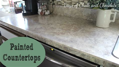 how to paint kitchen countertops painted faux countertops days of chalk and chocolate