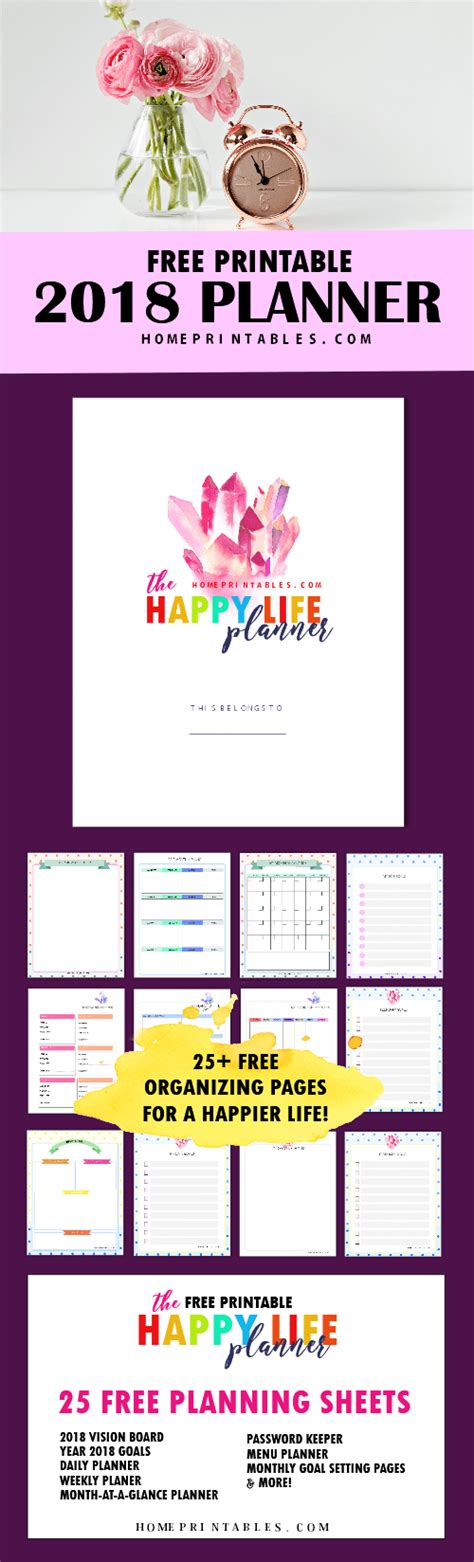 printable planner pages 2018 free printable 2018 planner 25 amazing organizers home