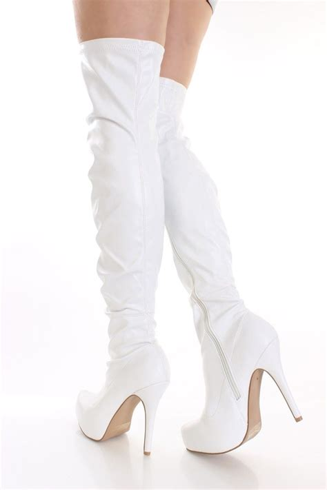 17 best images about white boots on platform