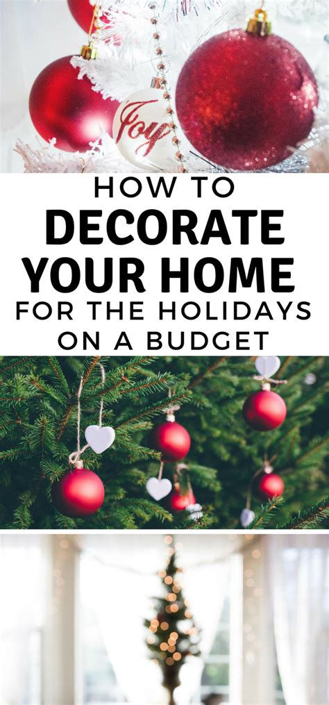 how to decorate a home on a budget how to decorate your home for the holidays on a budget