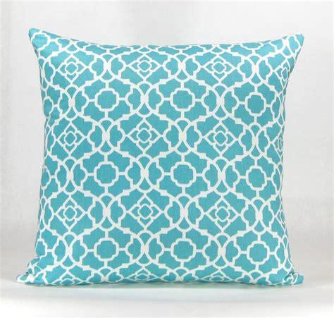 Aqua Throw Pillows Havock Throw Pillow Aqua