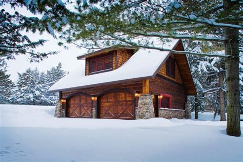 Barn Garage Apartment by Carriage House Lower Whitefish Lake 1 Winter
