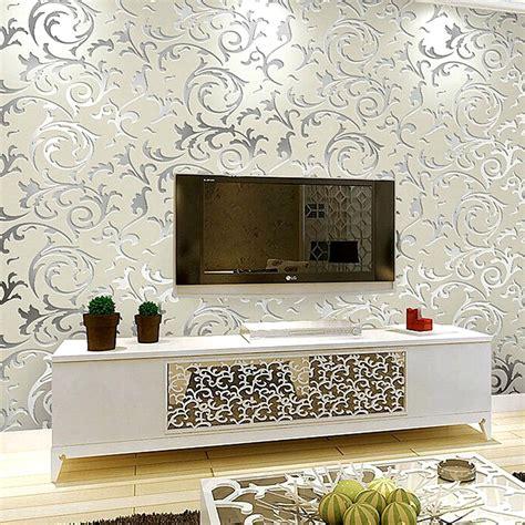 european damask diamond wallpaper 3d stereoscopic modern european luxury silver damask wallpaper roll modern 3d