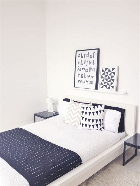 frame bedroom white malm for the home pinterest ribba picture