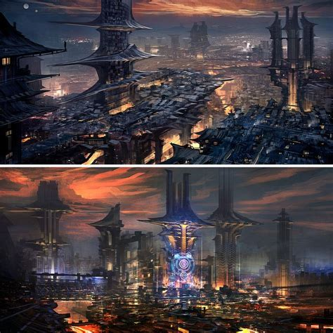 cyberpunk city concept environment sci fi concept art 117 best concept art dystopia cyberpunk neo noir sci