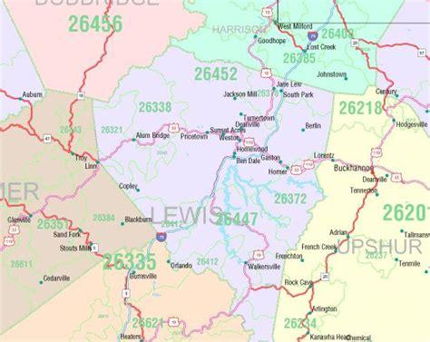 zip code map west virginia west virginia state zip code map