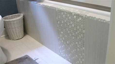 Tiling Side Of Bathtub by Tile Side Of Tub Transitional Bathroom Raleigh By