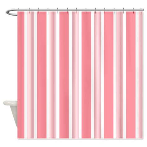 pink stripe shower curtain bold amaryllis pink striped shower curtain kawelamolokai com