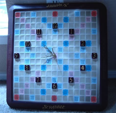 scrabble clock upcycling ideas for apartment spaces rental living