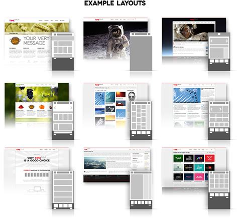 website layout exles time responsive website template by webberwebber