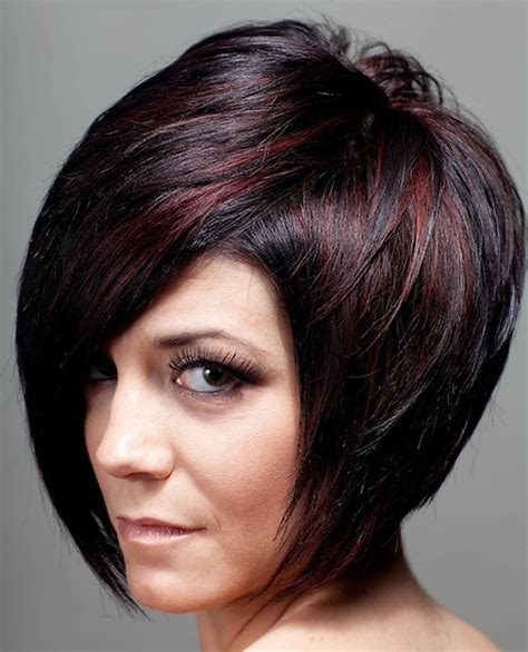 Auburn Highlights Fir Black Women Short Hairdos | short hair styles for women with red highlights short