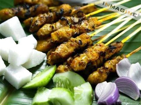satay makanan tradisional  malaysia