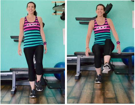 1 leg squat to bench unilateral leg training for runners lea genders fitness