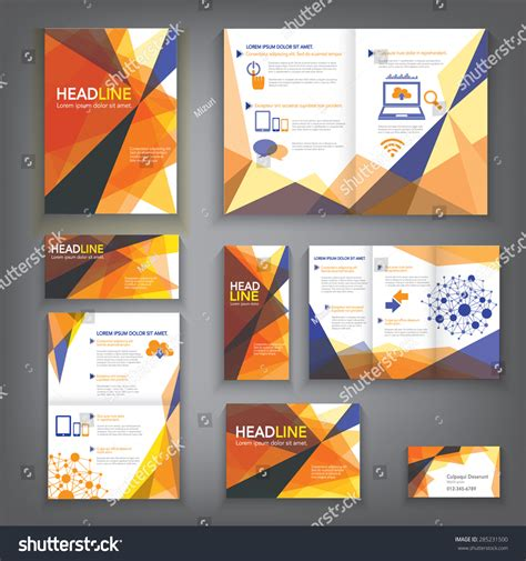 layout brochure a3 design abstract vector brochure template flyer stock