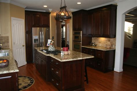 dark cherry kitchen cabinets dark cherry cabinets kitchen traditional with built in