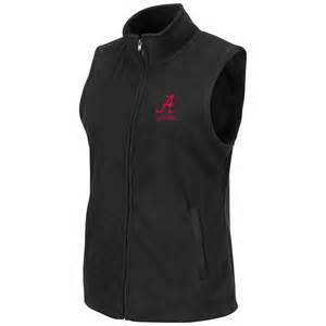 Crimson tide women s snowflake polar fleece vest black cowv3523bn