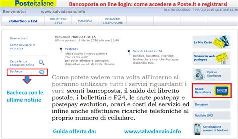 conto banco posta bancoposta on line login come accedere a poste it e