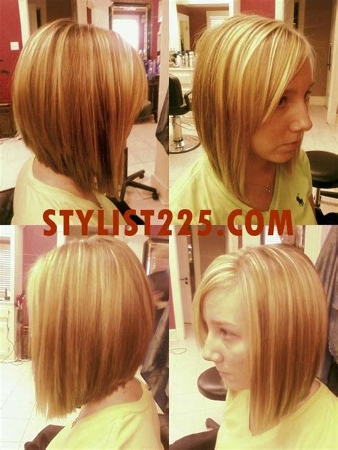 long angled bob hairstyles with back and side views and bangs long inverted bob back view hairstyle and haircuts for