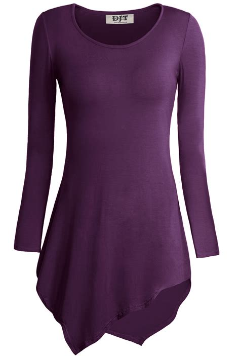 Hmm Tuneec Longshirt womens lagenlook plus size tops sleeve v neck tunic jersey blouse top ebay
