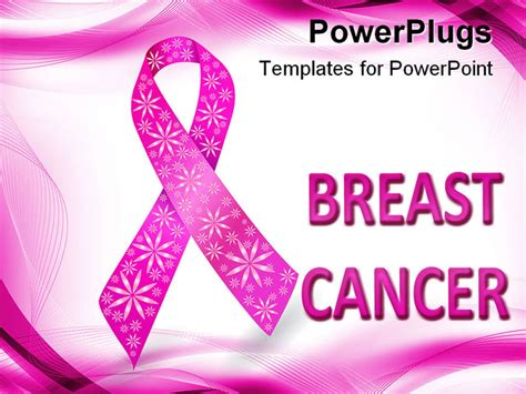 powerpoint template pink breast cancer awareness ribbon