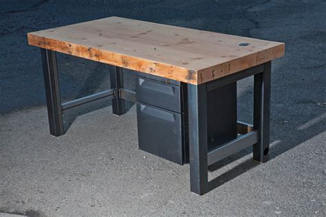 items similar to reclaimed wood slab desk with metal legs